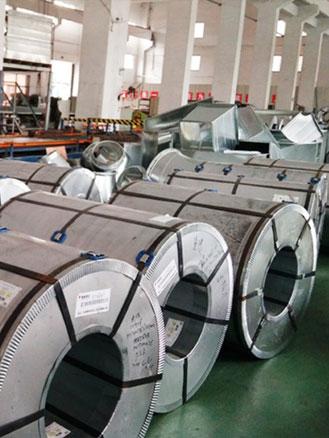 加多宝集团镀锌板通风管道合作案例