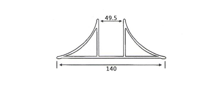 净化铝材双R槽参数图
